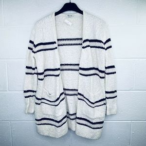 Madewell XS Striped Boucle Cardigan Sweater Pocket